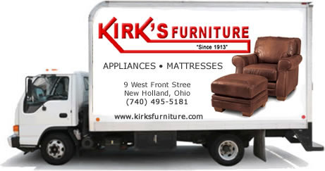 Kirk's Furniture offers FREE Local Delivery!