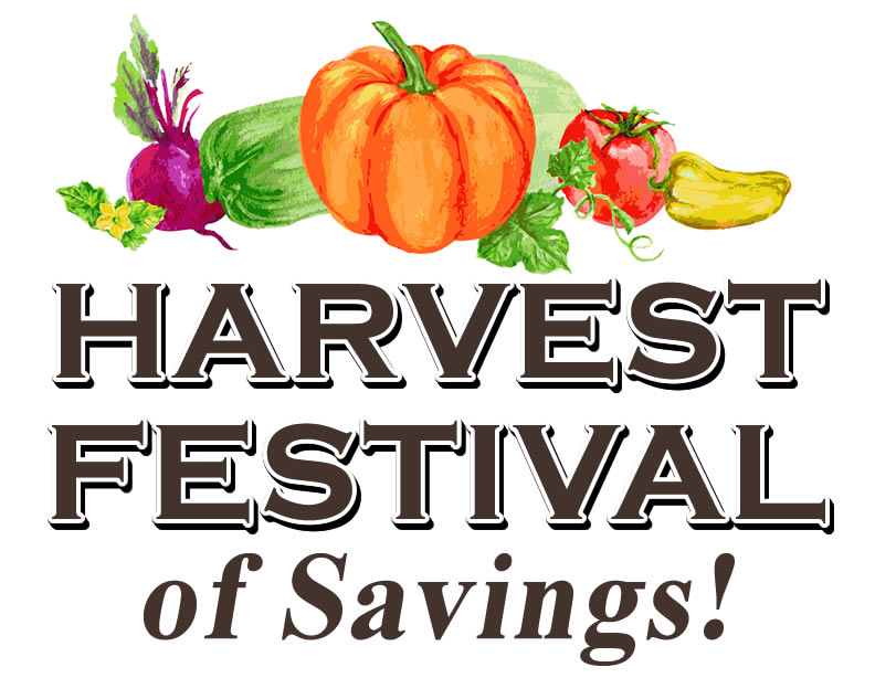 Harvest Festival of Savings Sale