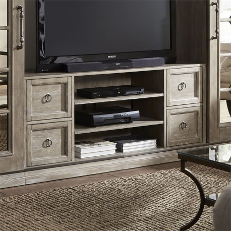 Mirrored Reflections Entertainment TV Stand