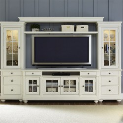 Harbor View Entertainment Center with Piers