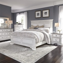Abbey Park Panel Bed, Dresser & Mirror, Chest, NS