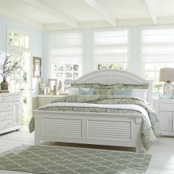 Summer House I Panel Bed, Dresser & Mirror, Chest, NS