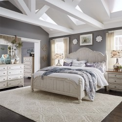 Farmhouse Reimagined Poster Bed, Dresser & Mirror, Chest, NS