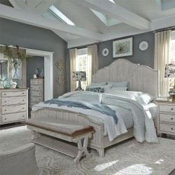 Farmhouse Reimagined Panel Bed, Dresser & Mirror, Chest, NS
