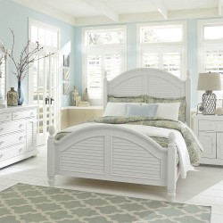 Summer House I Poster Bed, Dresser & Mirror, Chest, NS