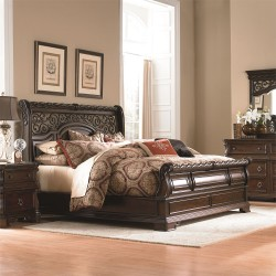 Arbor Place Sleigh Bed, Dresser & Mirror, Chest, NS