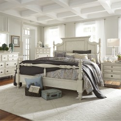 High Country Poster Bed, Dresser & Mirror, Chest, NS