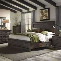 Thornwood Hills Two Sided Storage Bed, Dresser & Mirror, Chest, NS