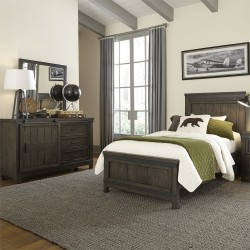 Thornwood Hills Youth Panel Bed, Dresser & Mirror
