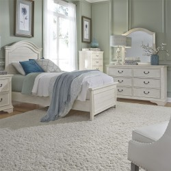 Bayside Youth Panel Bed, Dresser & Mirror