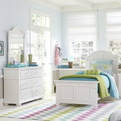 Summer House Youth Panel Bed, Dresser & Mirror