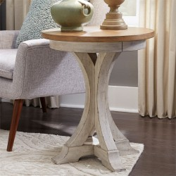 Farmhouse Reimagined Round Chair Side Table